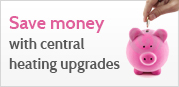 Save money central heating upgrades